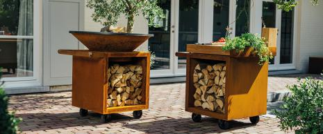 The first style uniform modular and mobile outdoor kitchen