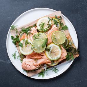 Grilled Cedar Wood Salmon
